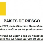 Comunicado 113/2021: Actualización Anexo II Países o Zonas de Riesgo para el control sanitario entrada a España   Del 26 de julio a 01 de agosto 2021