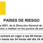 Comunicado 145/2021: Actualización Anexo II Países o Zonas de Riesgo para el control sanitario entrada a España | Del 18 de octubre al 24 de octubre de 2021
